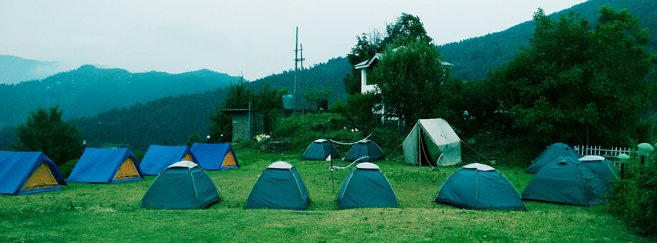 Churwadhar Camping Rajgarh Himachal Pradesh Base Camp View